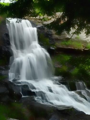 photoshop waterfall pennsylvania olympus waterfalls carbondale photoart topaz cs3 e510 1442 topazadjust3 nmpemulation