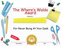 picture relating to Where's Waldo Printable called Printable Certificates: Wheres Waldo Amusing Award Acquire Prin