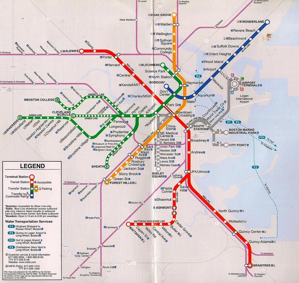 The Village Subway Map.Mbta Subway Map A Subway Map Missing The Symbol For The O Flickr