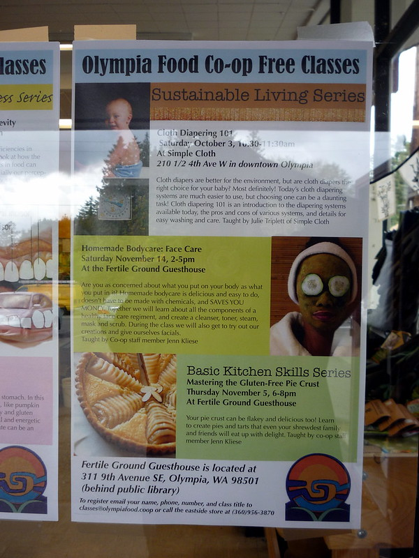 Olympia Food Co-op Free Classes:  Sustainable Living Series