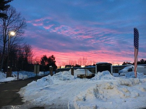 winter sunrise snow sky penacook newhampshire