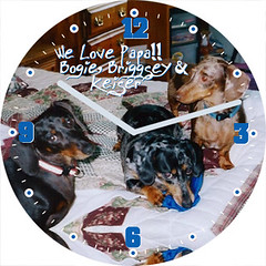BJ's Dachshunds Pet Clock | by customclockface