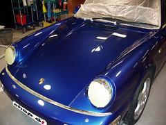 Pulir coche. Porsche Carrera