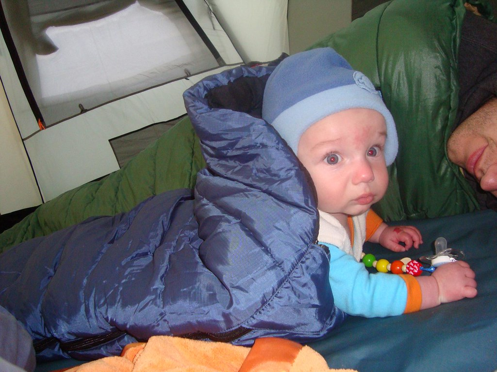 super popular a7204 7542e Settled in his Vango Nitestar Baby sleeping bag | James ...