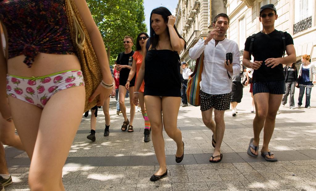 Sexy Girl Wearing Garter Belt Hose Heels No Pants With View Camera Stock Photo