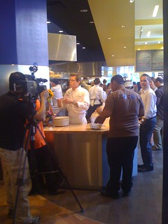 Xoco - Rick Bayless being interviewed | by Fuzzy Gerdes