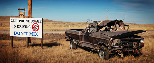 usa car sign mobile america truck warning mix driving phone unitedstates crash cellphone cell pickup dont wyoming wreck donot