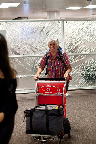 Mum arriving home from Southern Africa | by HelenPalsson