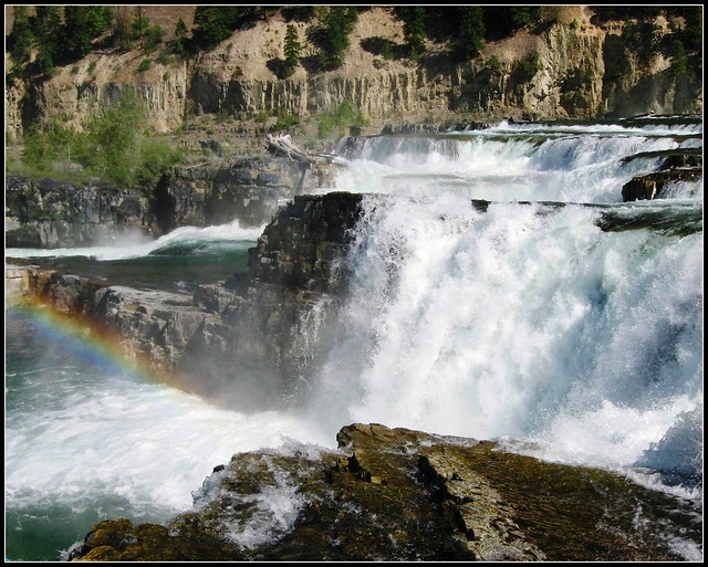 Kootenai Falls, Montana, Wild River Waterfall