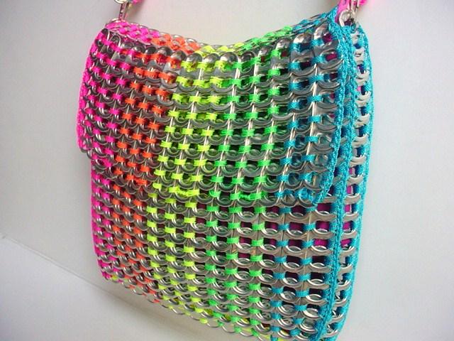Rainbow Pull Tab Shoulder Bag