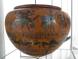 Black-figured dinos (wine vase). 570-560 BC. | by Tilemahos Efthimiadis