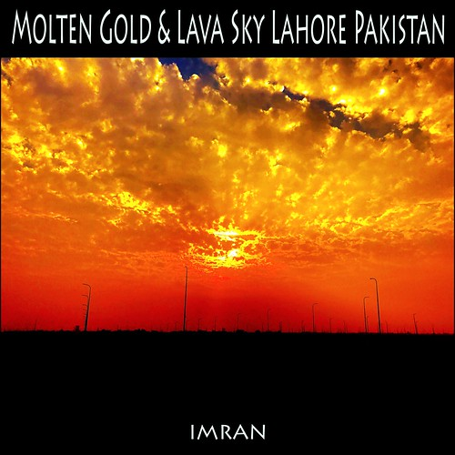clouds gold horizon imran imrananwar iphone iphone7 lahore pakistan red silhouette sunset
