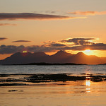 6. September 2008 - 18:53 - Rum and Eigg from just south of Morar