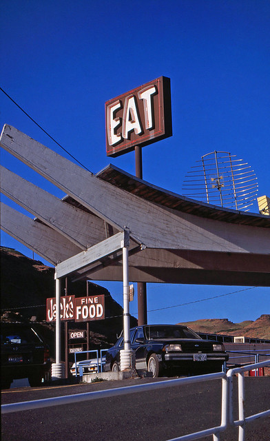 EAT - Jack's Fine Food, Biggs Jct. Oregon, May 25 1997.