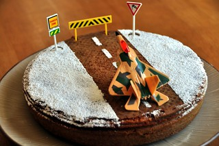 Airport Cake - a fighter jet taking off   by Sujal Parikh