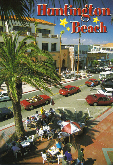 Huntington Beach Shopping Postcard