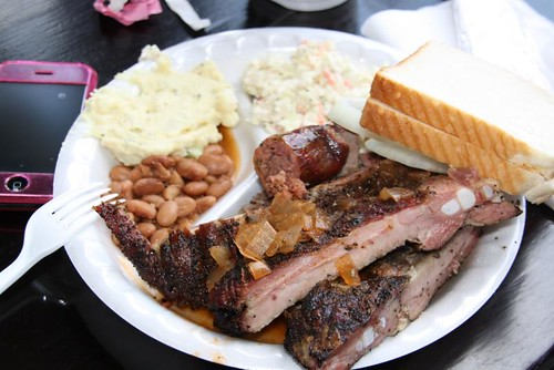 BBQ plate from Louie Mueller Barbecue | by Slackerwood