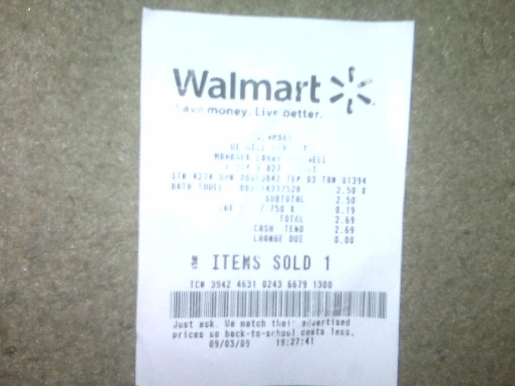 Wal-Mart receipt | Lamarr Blocker | Flickr