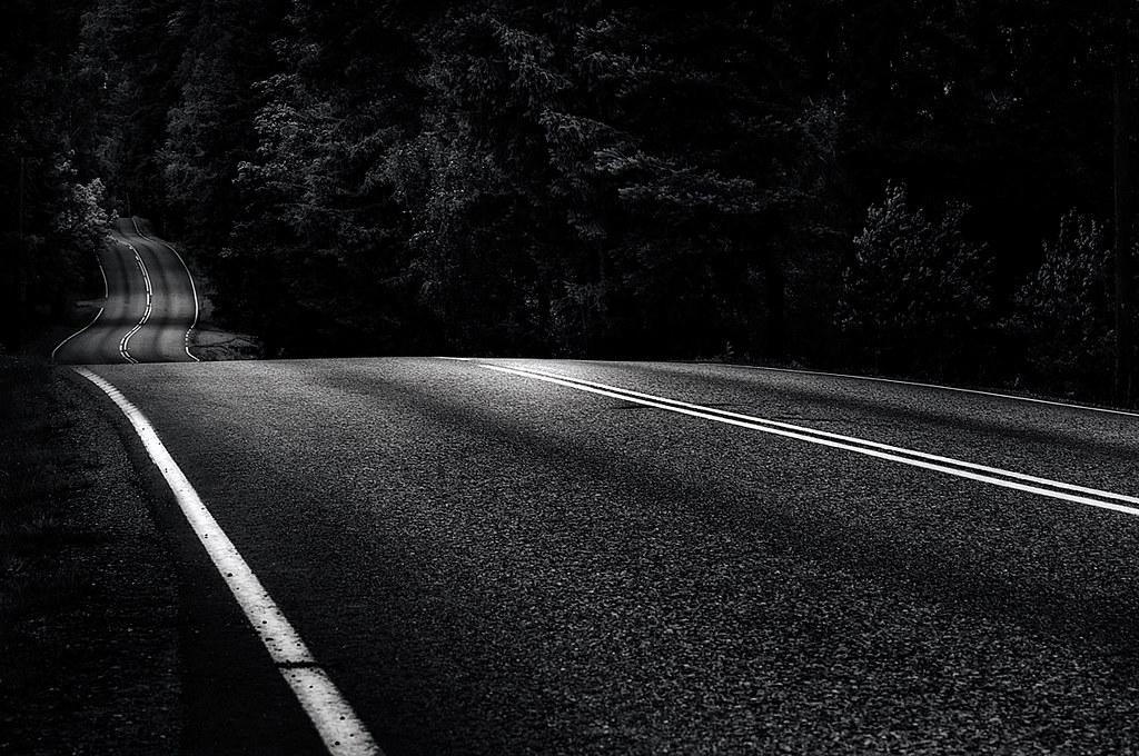 On White Dark Road By Mikko Lagerstedt Large