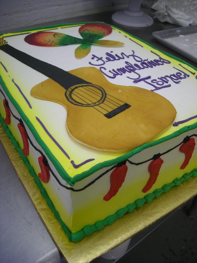 Admirable Spanish Style Birthday Cake 50 Buttercream Cake With Gum Flickr Funny Birthday Cards Online Inifodamsfinfo