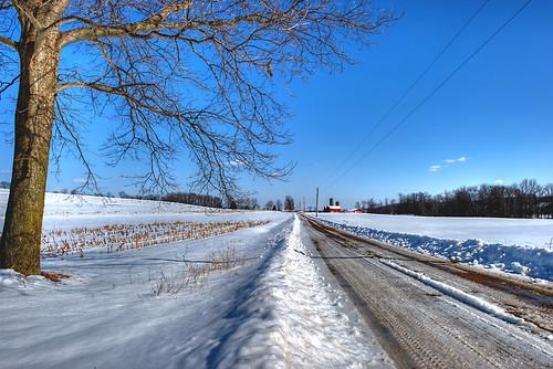 winter ohio rural landscape geotagged nikon raw nef country dirtroad hdr photomatixpro d3s clintonohio nikkor1424f28 summitcountyohio nikongp1 pse8