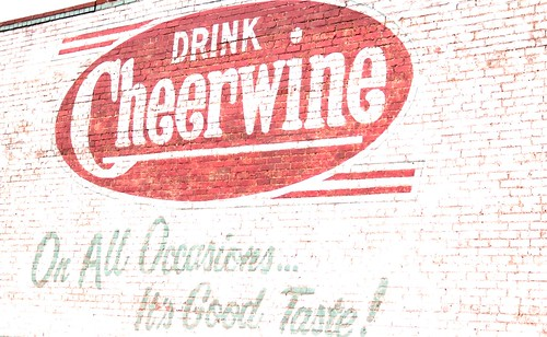 Cheerwine Ad on Old Building Salisbury NC   by mbtphoto (away a lot)
