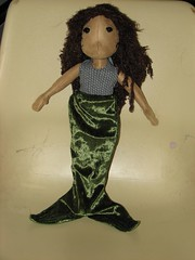 mermaid doll created for a swap