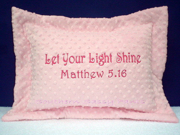 Let Your Light Shine Minky Pillow