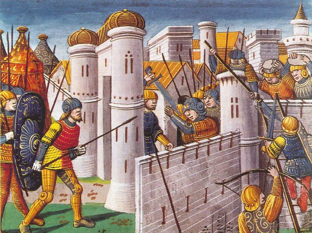 The crusaders conquer Constantinople