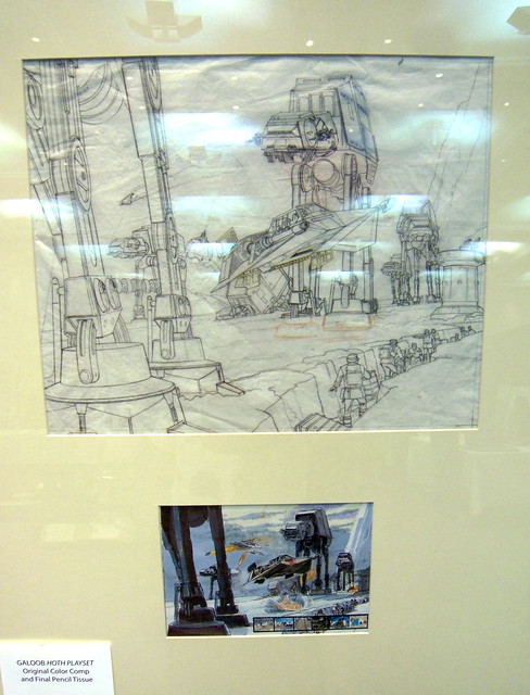 Ralph McQuarrie Hoth pencil sketch