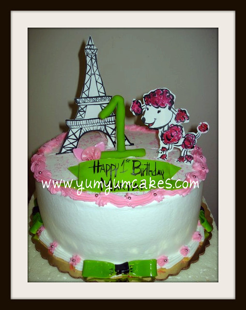 Excellent Poodle In Paris Birthdaycake Cute Poodle In Paris Themed B Flickr Funny Birthday Cards Online Aeocydamsfinfo