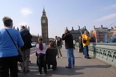 tourists and Big Ben