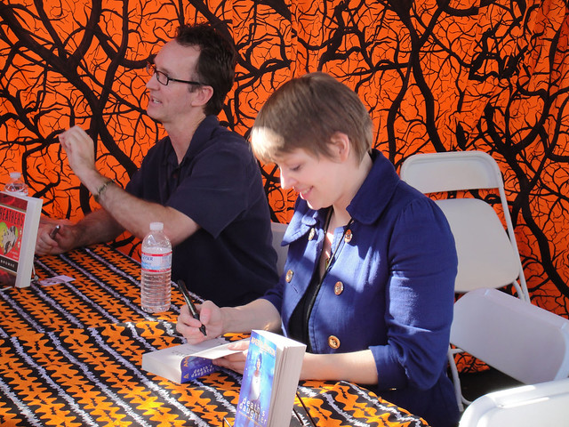 West Hollywood Book Fair 2009 - Amber Benson signs her novel Death's Daughter for fans