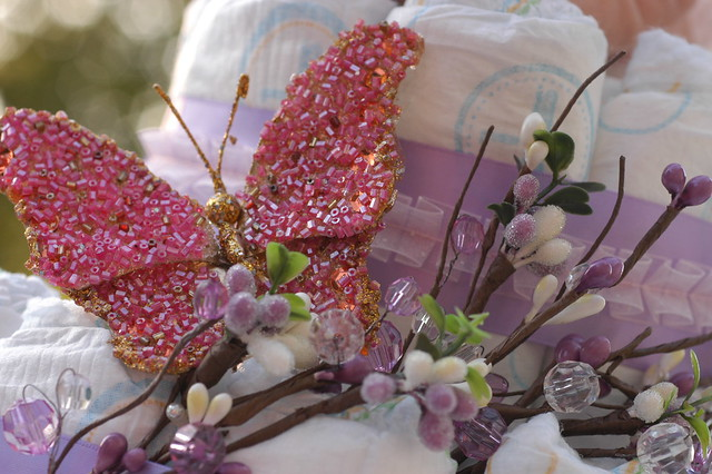 Pink Hippo Diaper Cake