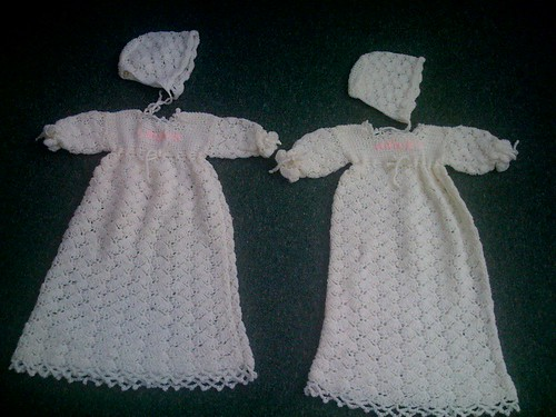 Christening Gowns And Bonnets Crocheted Crocheted Chris Flickr