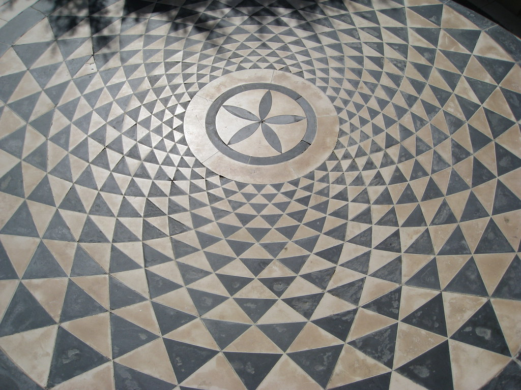 Concentric Circular Pattern Floor In Front Of Getty