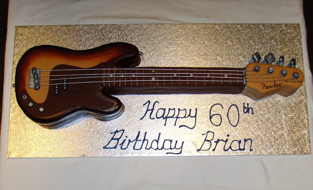 Superb Bass Guitar Birthday Cake Custom Made Replica Of A Bass G Flickr Funny Birthday Cards Online Alyptdamsfinfo