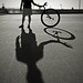 Unicycle Shadows by the other Martin Taylor