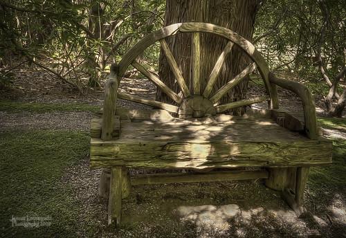 park old wheel garden bench wagon geotagged hill story darts hdr janusz leszczynski dartshill geo:lat=49031763 geo:lon=12275445 000554