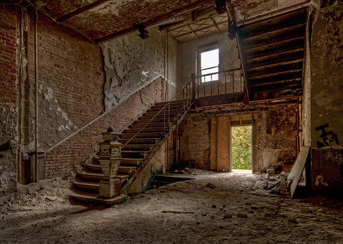 windows ny newyork brick castle abandoned stairs hall nikon ruins decay hill ruin off dirty jackson dirt abandon urbanexploration column dust kellogg hdr highdynamicrange decayed decaying hdri crumbling wellness limits urbex dansville d300 sanitorium photomatix castleonthehill thecastleonthehill granoola