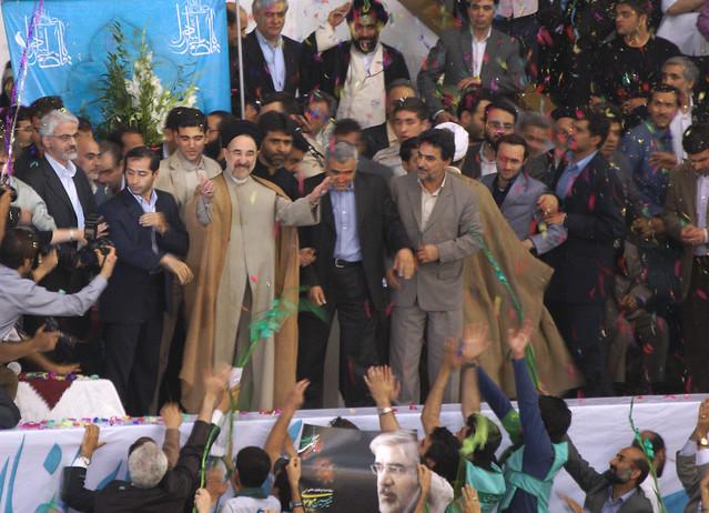 Khatami in Support of Mousavi, Azadi Stadium, Tehran, Iran (Persia)