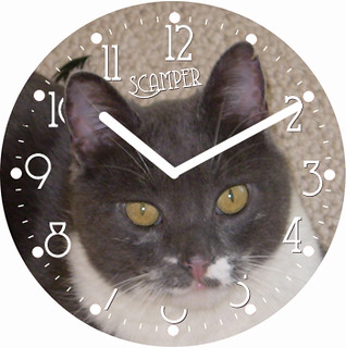 Scamper Pet Clock | by customclockface