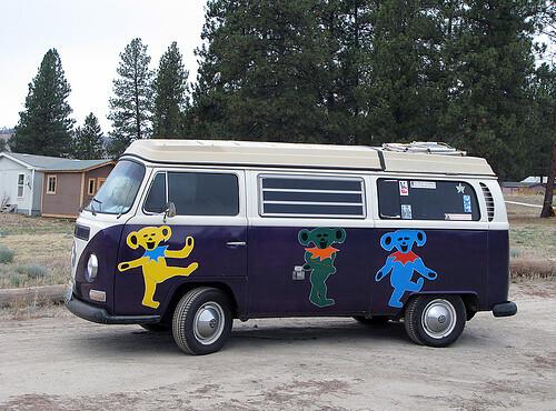 Random VW bus with Grateful Dead dancing bears | borrowed fr… | Flickr