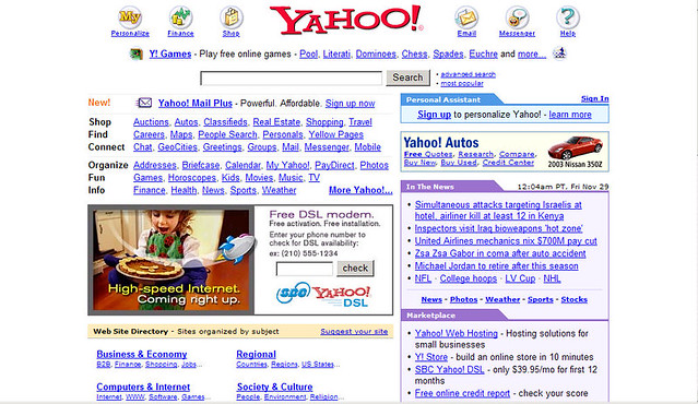 Yahoo! Homepage in 2002 | Yahoo | Flickr