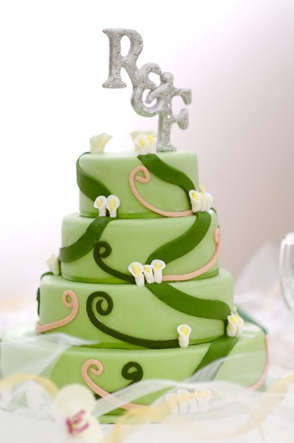 Green Tea Cake with Lychee Buttercream Filling Wedding Cake