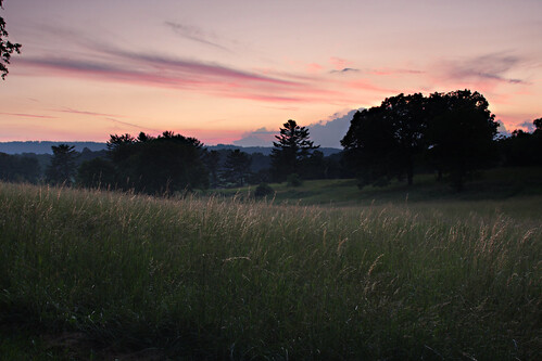 sunset photoshop landscape grassland