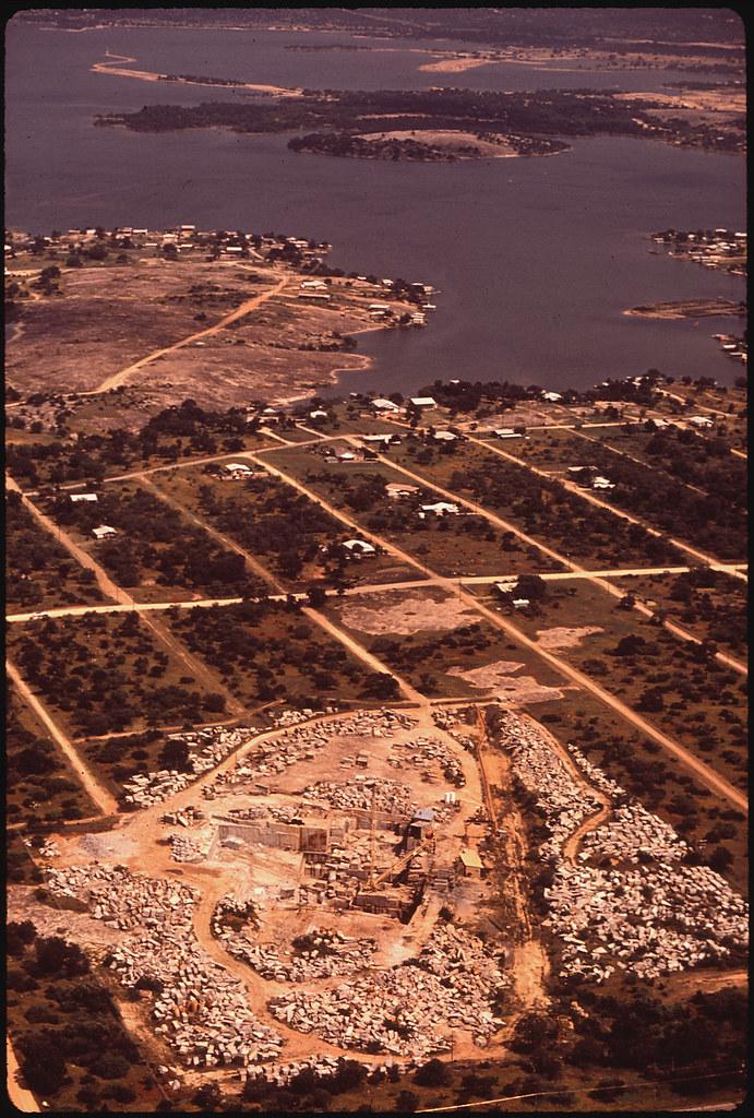 Pink Granite Quarry At Lake Buchanan Original Caption