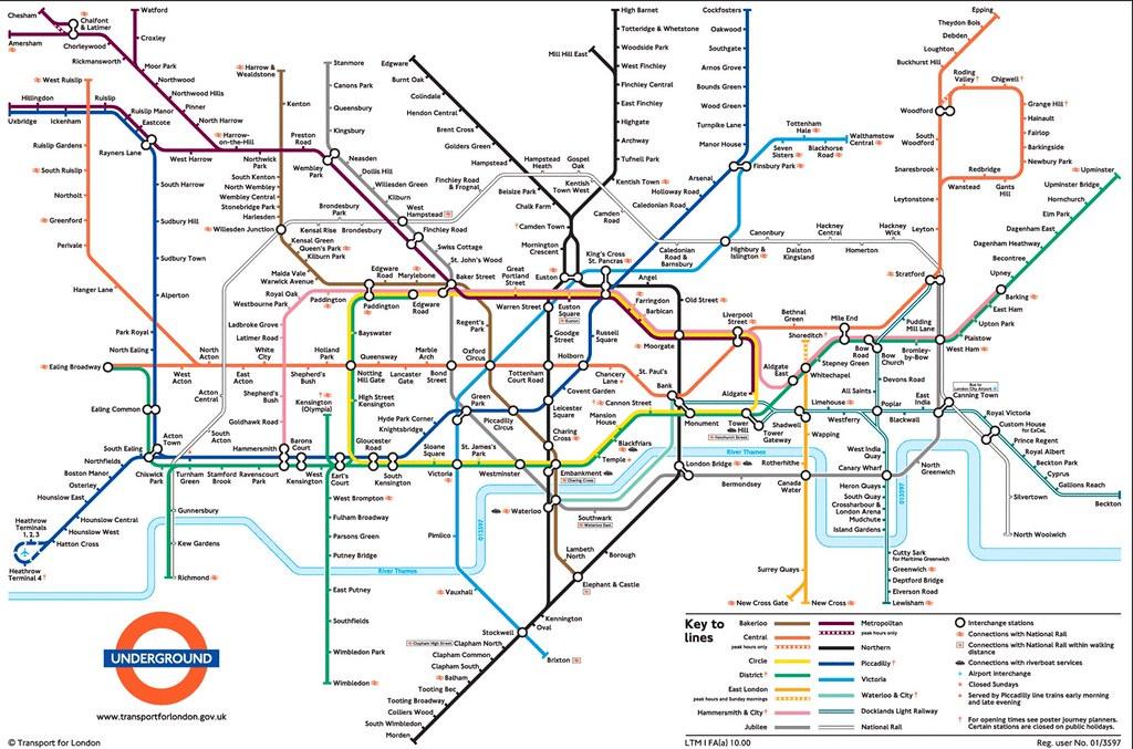 Mapa Do Metro De Londres Luis Seco Flickr