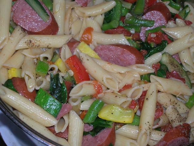 Pasta and Turkey Kielbasa Dish