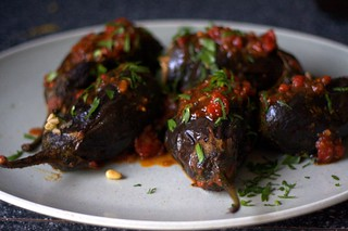 stuffed eggplant | by smitten kitchen